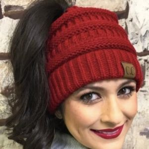 C.C. Accessories - NEW C.C. Beanie With Ponytail Hole 56d285f883f